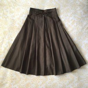 9db90d1ee Vintage Skirts | High Waist Jean Skirt Eyelet Lace Lined | Poshmark
